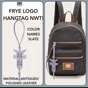Frye Leather Slate Gray Bag Charm Fob NWT 👜😍  FIRM PRICE!☝🏻😍🎁💃🏻💃🏻💃🏻